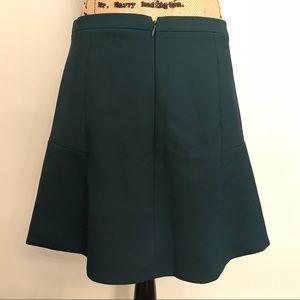 EUC J Crew Green Skirt